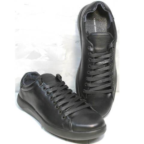 Мужские сникерсы кроссовки для ходьбы демисезонные. Кроссовки мужские кожаные черные GS Design Black
