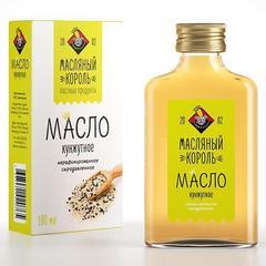 Масляный король масло кунжутное стеклянная бутылка 0,1 л