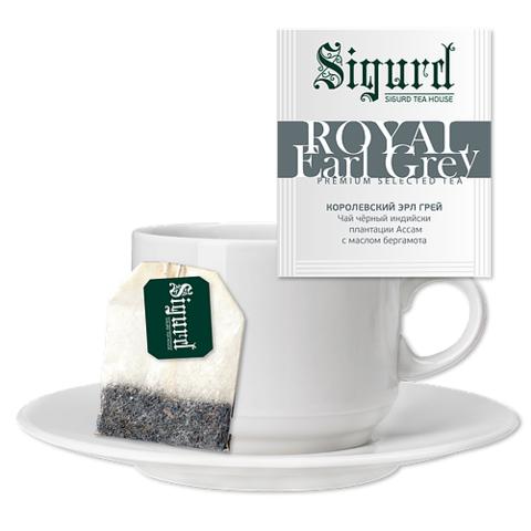 Чай Sigurd Эрл Грей Королевский на чашку (30 пак)