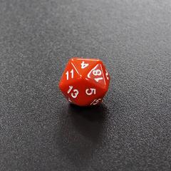 Оранжевый двадцатигранный кубик (d20) для ролевых и настольных игр