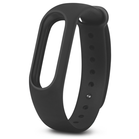 Сменный браслет Xiaomi Mi Band 3 однотонный (Черный)