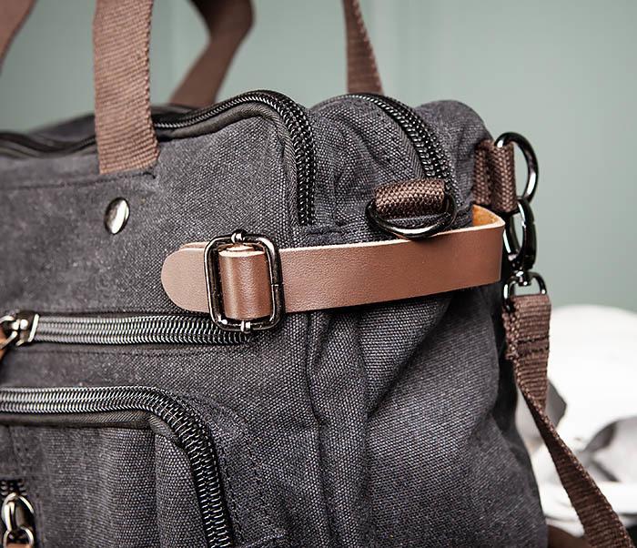 BAG475-1 Мужская сумка рюкзак «трансформер» из ткани фото 07