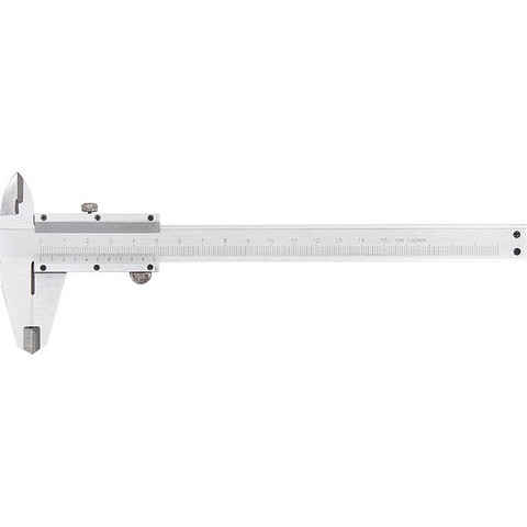 Штангенциркуль, 200 мм, цена деления 0,02 мм, металлический, с глубиномером Matrix
