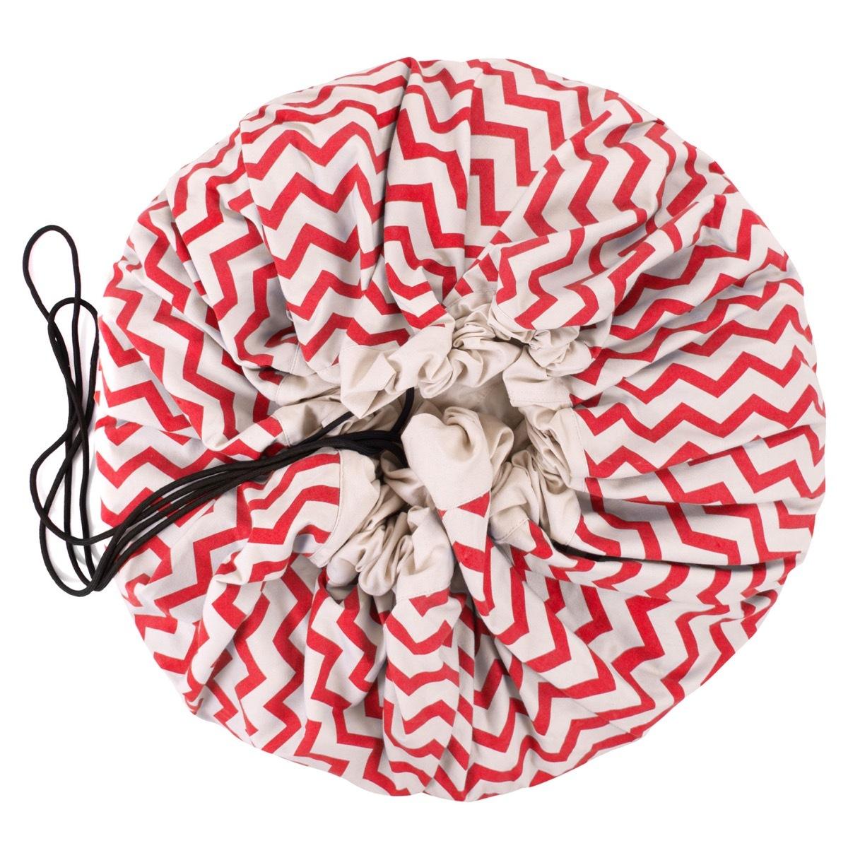 Коврик-мешок для игрушек Play&Go. Коллекция Print. Красный зигзаг