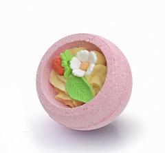 Десерт-шарик для ванн комбинированный КЛУБНИЧНЫЙ ДЕСЕРТ, серия
