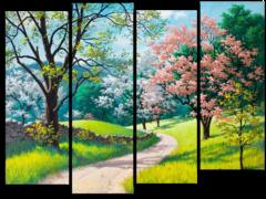 """Модульная картина """"Цветущий лес"""""""