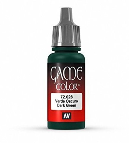 Game Color Dark Green 17 ml.