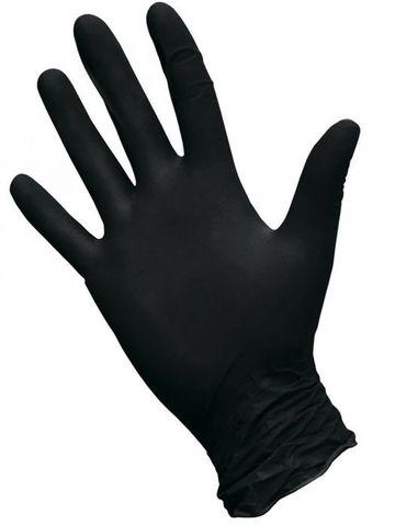 Перчатки косметические нитриловые Черные р. S (100 штук - 50 пар)