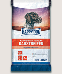 Лакомство для собак Happy Dog Жевательные полоски с индейкой