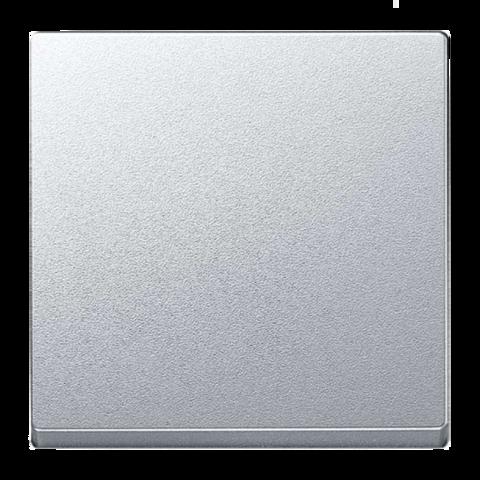 Выключатель одноклавишный. Цвет Алюминий. Merten. MTN3111-0000+MTN412160
