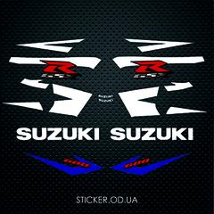 Набор наклеек Suzuki gsx-r 600 2004, синий пластик