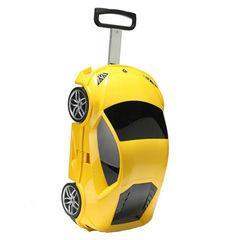 Детский чемодан на колесиках с выдвижной ручкой Суперкар