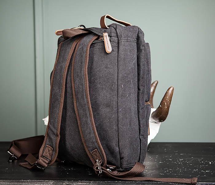 BAG475-1 Мужская сумка рюкзак «трансформер» из ткани фото 13