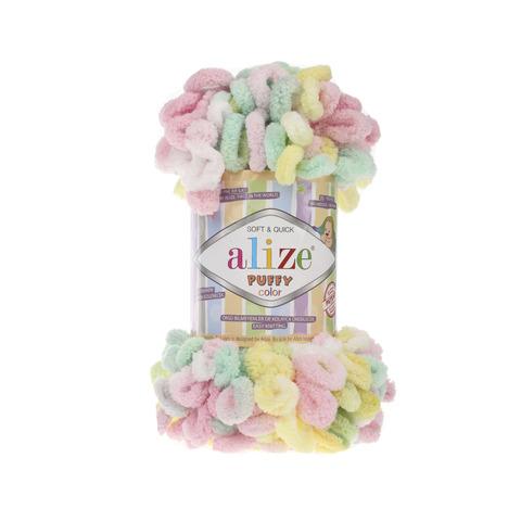 Купить Пряжа Alize Puffy Color Код цвета 5862 | Интернет-магазин пряжи «Пряха»