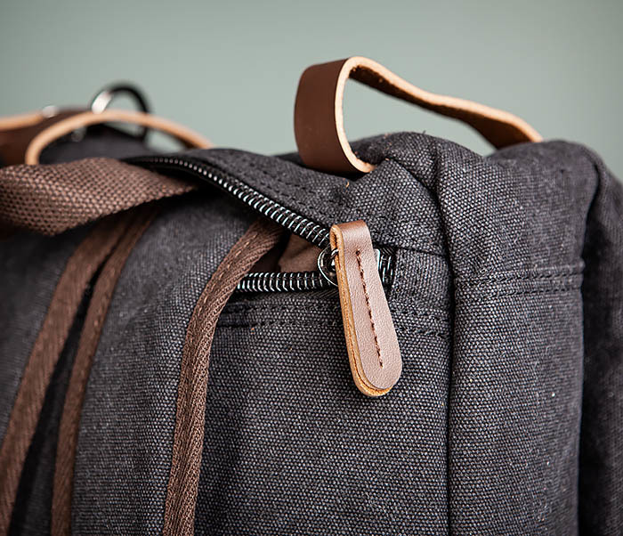 BAG475-1 Мужская сумка рюкзак «трансформер» из ткани фото 14