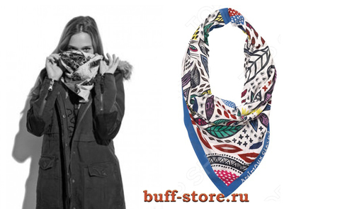 Шарф-снуд-хомут Buff Varsity Artists Rain Forest Riviera