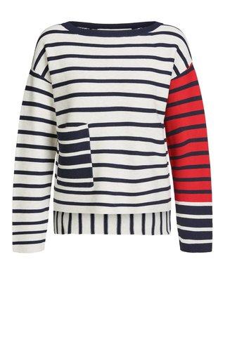 Цветной полосатый пуловер Oui арт.62648
