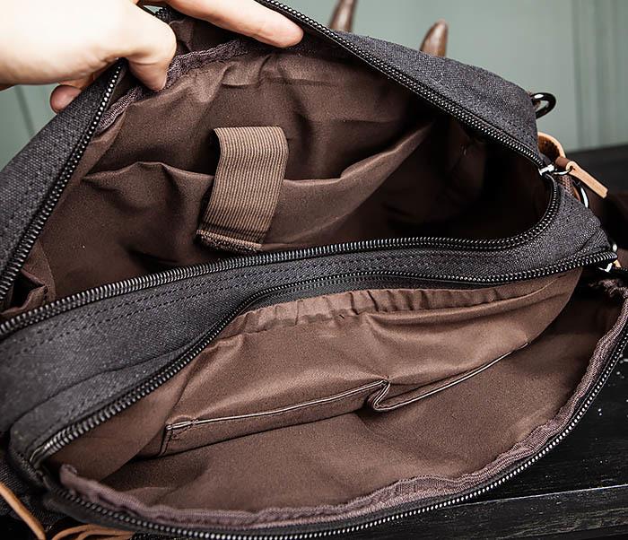 BAG475-1 Мужская сумка рюкзак «трансформер» из ткани фото 15