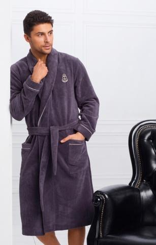 Мужской бамбуковый халат 11007-2 Laete