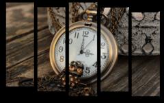 """Модульная картина """"Старинные часы"""""""