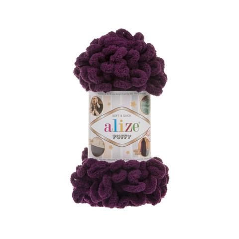 Купить Пряжа Alize Puffy Код цвета 111 Сливовый | Интернет-магазин пряжи «Пряха»