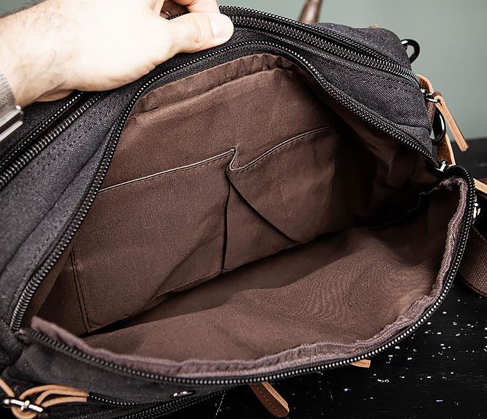 BAG475-1 Мужская сумка рюкзак «трансформер» из ткани фото 16