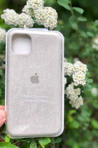Чехол iPhone  XS Max Alcantara case full /white/