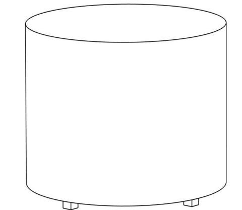 Пф-03 Пуфик круглый (фиолетовый) для дома и магазина