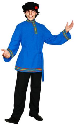 Голубая косоворотка
