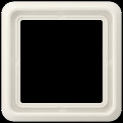 Рамка на 1 пост. Цвет Блестящий слоновая кость. JUNG CD 500. CD581WUW