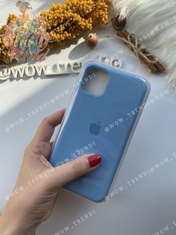 Чехол iPhone 11 Silicone Case /cornflower/ синие сумерки 1:1