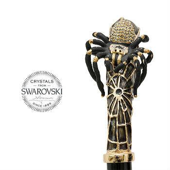 Зонт-трость Pasotti Tarantula with Swarovski® Crystals, Италия (арт.479 Oxf-18 K38).