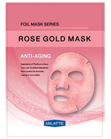 Маска тканевая антивозрастная MILATTE ROSE GOLD MASK_ANTI-AGING  23гр