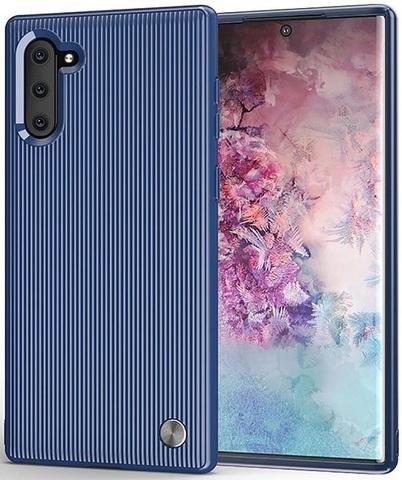 Чехол Samsung Galaxy Note 10 цвет Blue (синий), серия Bevel, Caseport