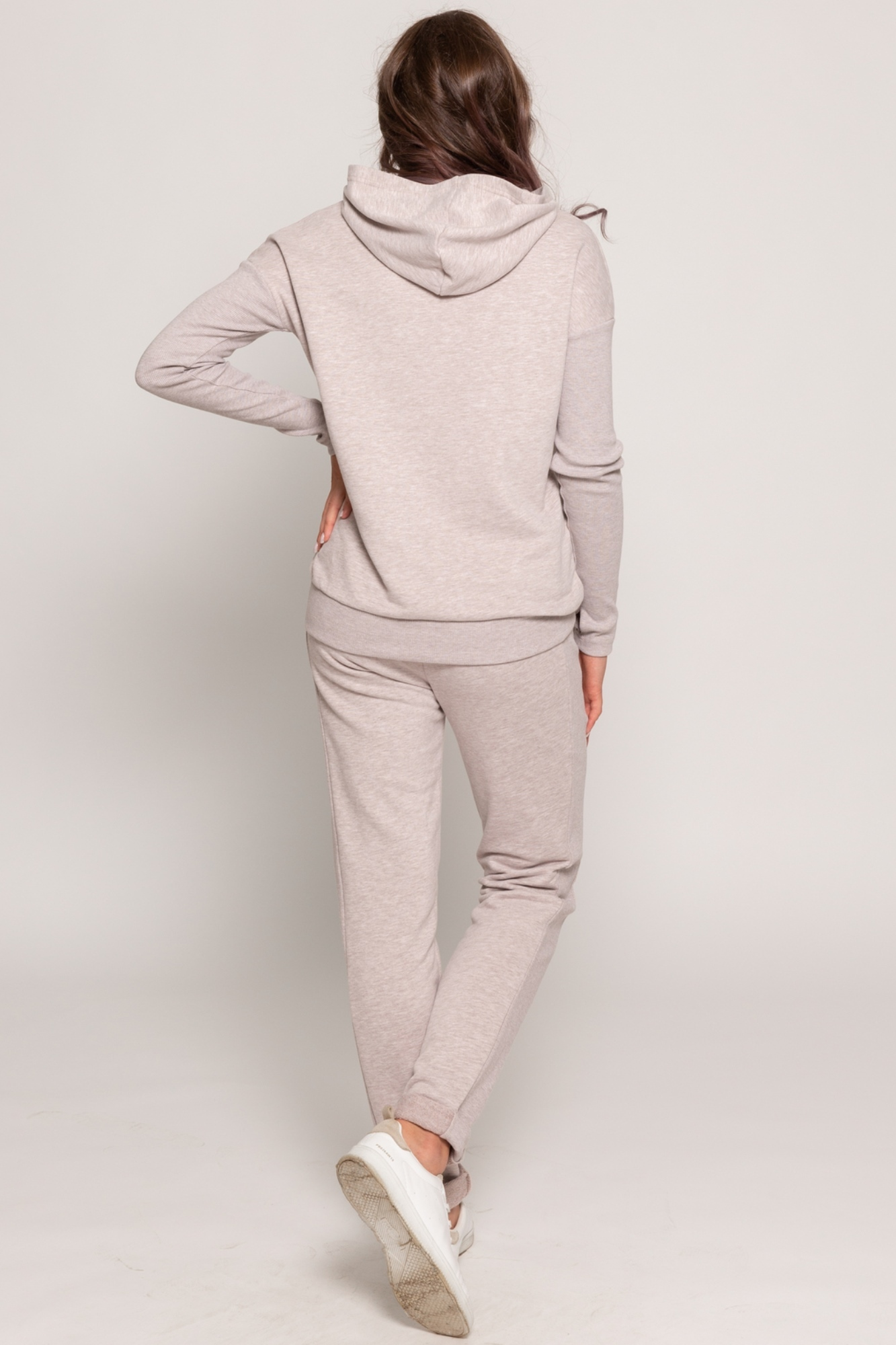 Спортивный костюм для беременных и кормящих 11498 бежевый