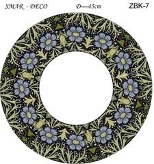 Эскиз для росписи, Зеркало диаметр-45см, SMAR-ZBK-7