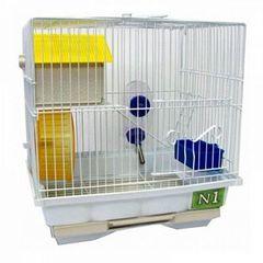 N1 клетка для хомяков с домиком и колесом 25*14*25см