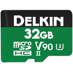 Карта памяти Delkin Devices MicroSDXC 32GB 2000x 300MB/s UHS-II, V90, U3, Class 10