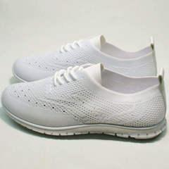 Модные женские кроссовки летние Small Swan NB-821 All White.