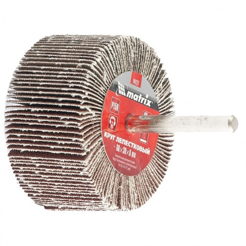 Круг лепестковый для дрели, 60 х 20 х 6 мм, MTX