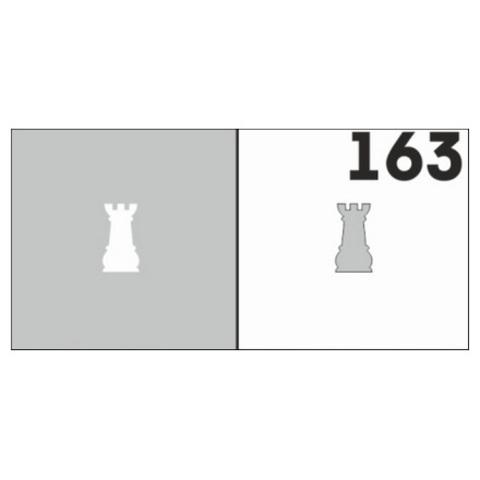 Трафарет для ногтей 6 шт. /1 уп. №163