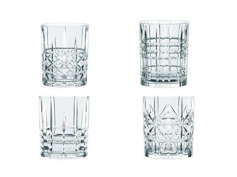 Набор из 4 хрустальных стаканов для виски HIGHLAND, 345 мл