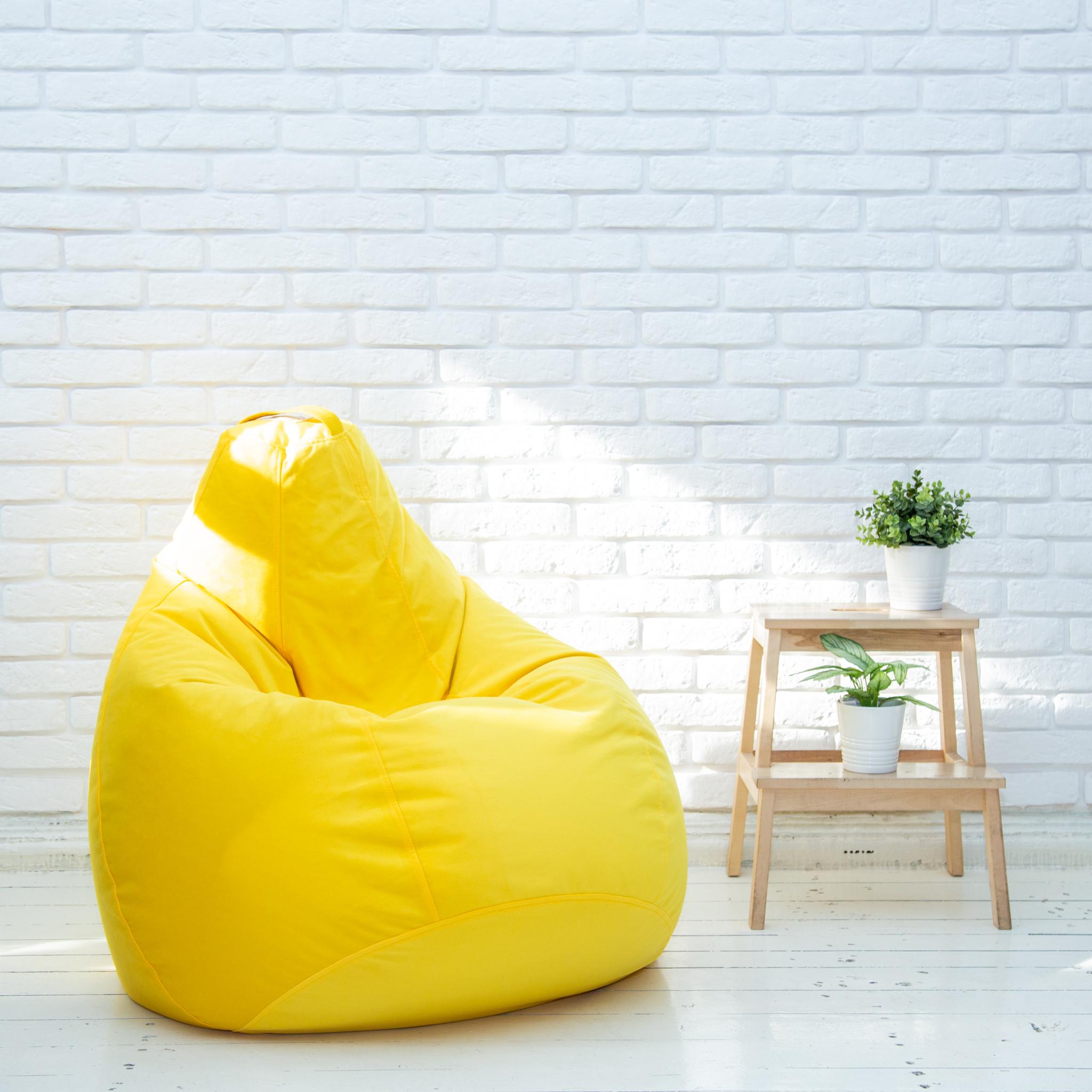 Кресло-пуф-груша-желтая