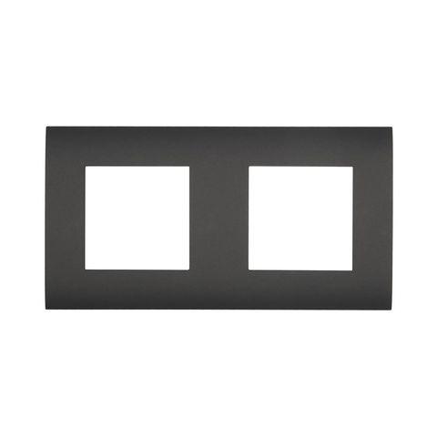 Рамка на 2 поста. Цвет Чёрный бархат. LK Studio LK45 (ЛК Студио ЛК45). 854208
