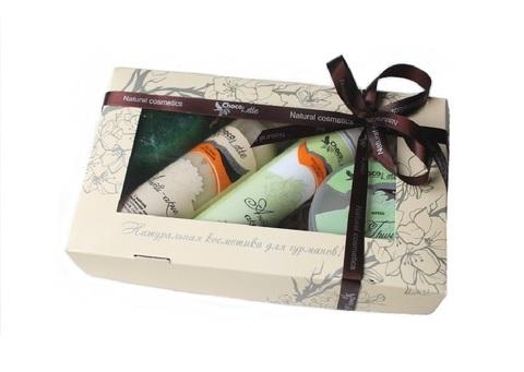Набор подарочный №10 для лица Анти-Акне (сыворотка Анти-Акне, пенка для умывания Анти-Акне, маска Грин Фреш, мыло фигурное) ТМ Chocolatte