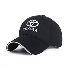 Модная бейсболка с вышивкой Тойота (Кепка Toyota) черная