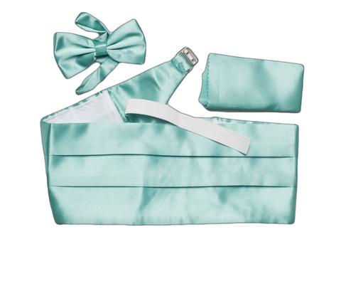 Камербанд (кушак, пояс) La madre светло-зеленый для смокинга+бабочка+платок