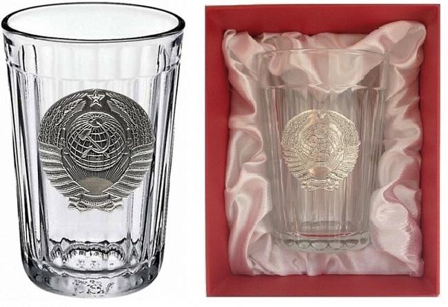 цена на Граненый стакан с гербом СССР «Эпоха застоя»
