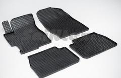 """Резиновые коврики """"Сетка"""" для Mazda 6 (2002-2008)"""