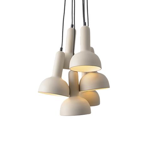 Подвесной светильник копия TORCH S2 by Sylvain Willenz (белый, 6 плафонов)